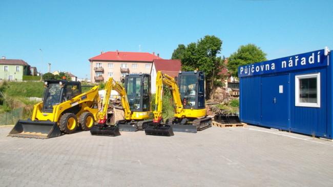 Půjčovna nářadí a stavebních strojů WOODCOTE v Klatovech